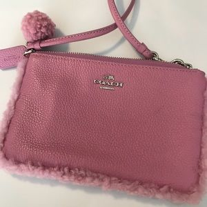 Coach Wristlet Mauve Nearly New!